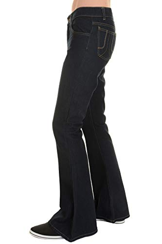 Run & Fly Men's 70's Retro Vintage Denim Bellbottom Super Flares 34 Regular -