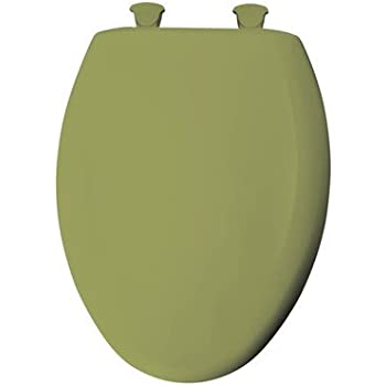 Deluxe Avocado Green Wood Elongated Toilet Seat Amazon Com