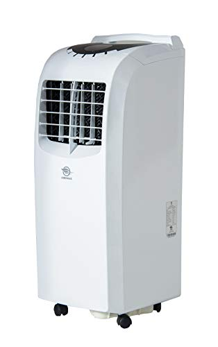 AireMax Portable Air Conditioner with Remote Control for Rooms up to 400 Sq. Ft, White
