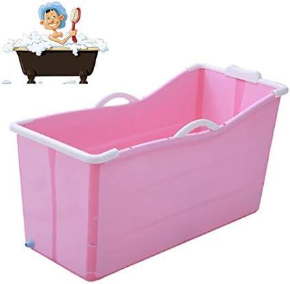 折りたたみバスタブ GYF ホーム折りたたみ大人用バスタブ新生児用浴槽 ベビータブ 折りたたみ式バスタブ 子供用バスタブ 環境を守ること 滑り止め 強い耐荷重 117x52x63cm (Color : Pink)