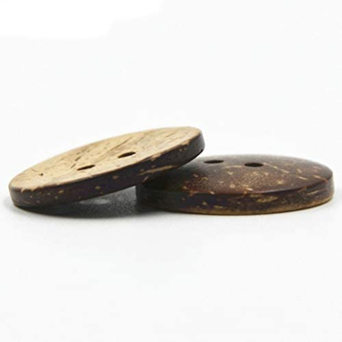 Healifty Bouton de Coco Naturelle pour Coudre et Bricolage 50/PCS 15/mm