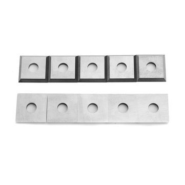 10pcs 12mm Square Carbide Insert Cutter 4-Edge for Woodworking Turning tools - Cutting Tool Carbide Insert - 10 x Carbide Inserts