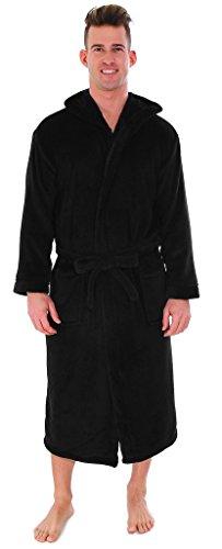 long black fleece dressing gown - 2