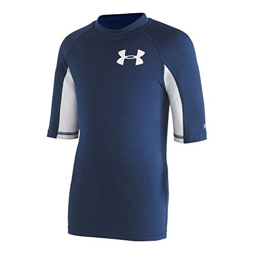 Under Armour Boys' Big UA COMP Short Sleeve Rashguard, Academy YLG rash guard under armour 8