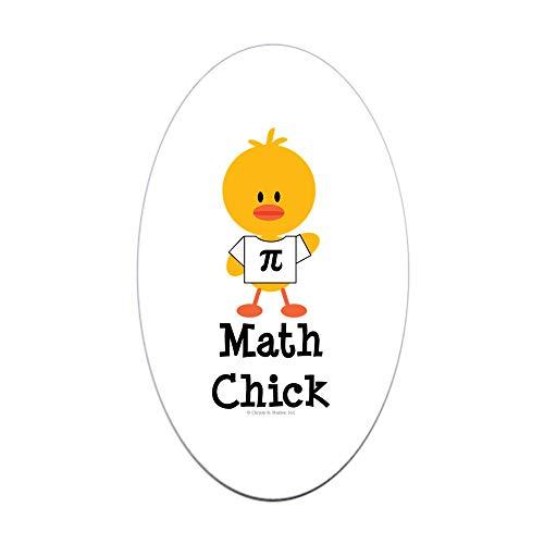 CafePress Math Chick Oval Sticker Oval Bumper Sticker, Euro Oval Car Decal