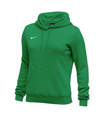 Nike Womens Pullover Club Fleece Hoodie (Large, Cardinal)