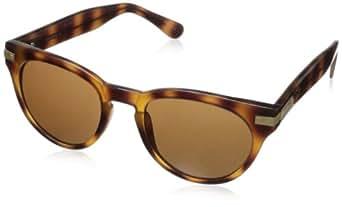 Cole Haan Women's C 6090 25 Round Sunglasses,Honey Tortoise,50 mm