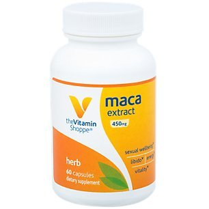 The Vitamin Shoppe Maca 4:1 Extract 450MG, Dietary Supplement That Supports Sexual Wellbeing, Libido, Energy Vitality (60 Capsules)