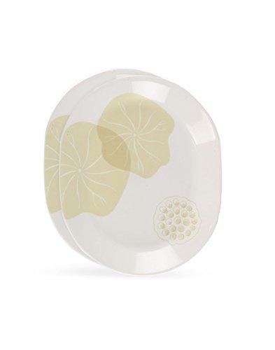 Corelle Bliss Glass Oval Serving Platter, Set of 2, Multicolour