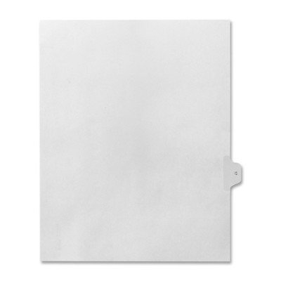 Numerical Index Dividers, Exhibit 17, Letter, 10/BX White [Set of 3]