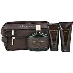 JOHN VARVATOS VINTAGE by John Varvatos Gift Set for MEN: EDT SPRAY 4.2 OZ & AFTERSHAVE GEL 3.4 OZ & HAIR AND BODY WASH 2.5 OZ & TOILETRY BAG