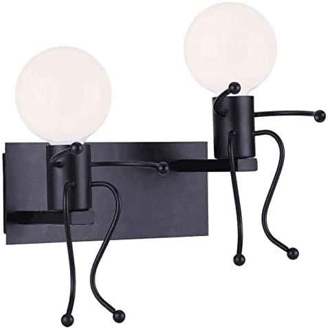 Creativo Lampada da Parete Ristorante Corridoio E27 Camera da Letto Retro Applique da Parete,Vintage Metallo Lampada da Applique Illuminazione per Bar