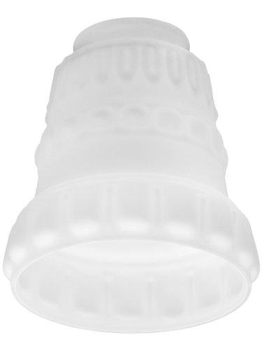 """Classical Satin Opal Panlight Shade With 2 1/4"""" Fitter. Repl"""