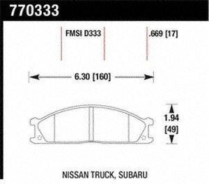 Hawk Performance 771109 FMSI D1109 OES Premium Ceramic Disc Brake Pad