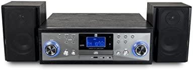 Dual NR 110 - Minicadena sistema compacto con tocadiscos con opción para casette, leedor de CDs (MP3) y puerto USB