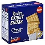 Rovira Export Sodas- Classic Soda Crackers (8 foil fresh packs/box) - 9 oz Box (Count of 2)