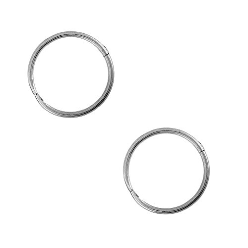 Nickel Free Costume Jewellery Uk (Studex Sensitive Sterling Silver Small 10mm 3/8 Inch 18GA Hinged Hoop Earrings)