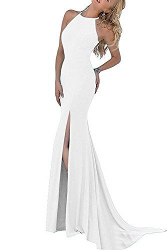La_mia Braut Elegant Dunkel Blau Figurbetont Abendkleider Ballkleider Brautjungfernkleider Jugendweihe Kleider Lang Weiß IkfswO2gy