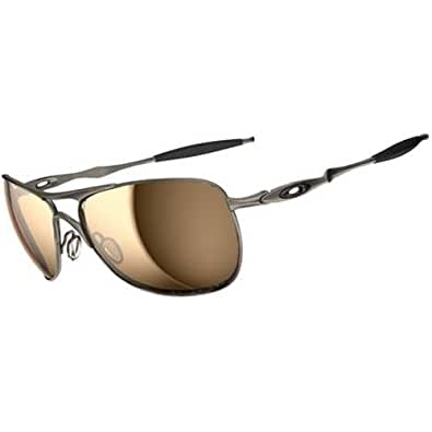 Oakley Titanium Crosshair Sunglasses - Oakley Men's Polarized Active Authentic Eyewear - Titanium/Tungsten Iridium / One Size Fits All