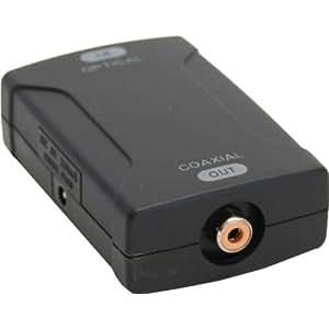 InLine 89909 - Conversor de audio (1 entrada Toslink óptica, 1 salida RCA), color negro