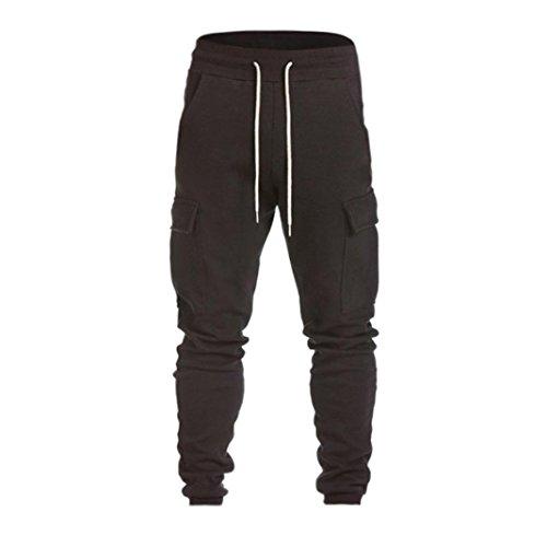 Harem Sweatpants Slacks Casual Jogger Dance Sportwear Baggy (XL, Black) ()
