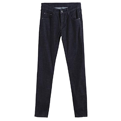 Nero Con Nero colore Classici Pantaloni Fuweiencore Unita Dimensione Cerniera nero 28 Slim Fit E Uomo Tinta Da Estate Lampo R4zpq