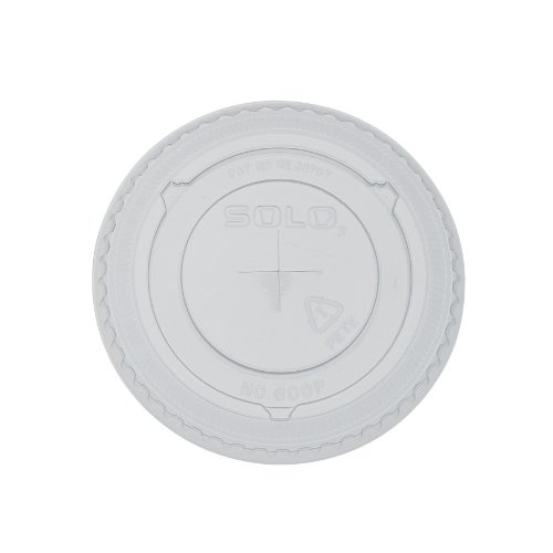 Solo Cup Company M600S Round Flat Lid with Straw Slot for...
