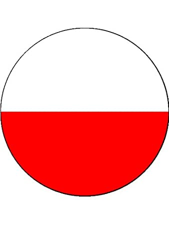 7 5 inch poland polish national flag cake topper decoration on