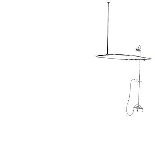 Downspout Shower Package - Kingston Brass CCK3141PL Vintage Down Spout Package, Polished Chrome