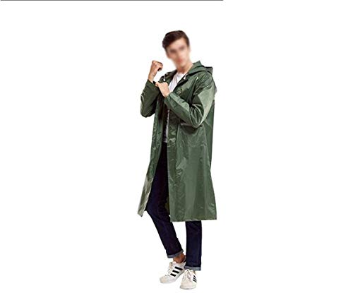 Raincoat Q Casual Épais Poncho Avec Imper Imperméable Adulte Battercake 1 Dame Capuchon Monochrome Étanche 4P7Snqx
