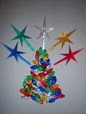 Ceramic Christmas Tree 100 Medium Twist Lights & 5 Stars (Ceramic Tree Vintage Star Christmas)