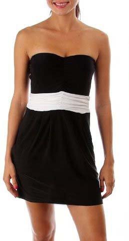 G2 Fashion Square Women's Colorblock Draped Strapless Dress