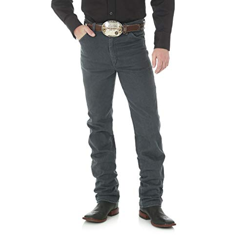 Wrangler Men's Cowboy Cut Slim Fit Jean, Charcoal Grey, 31W x 30L ()