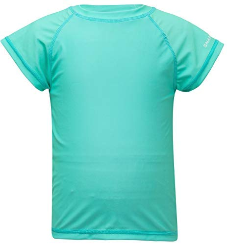 Snapper Rock Girls Short Sleeve Rash Top (Mint, 14) by Snapper Rock