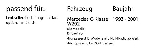 DAB+ Digitalradio Antenne Einbauset f/ür Mercedes C- JUST SOUND best choice for caraudio DAB+ USB Autoradio inkl JVC KD-DB67