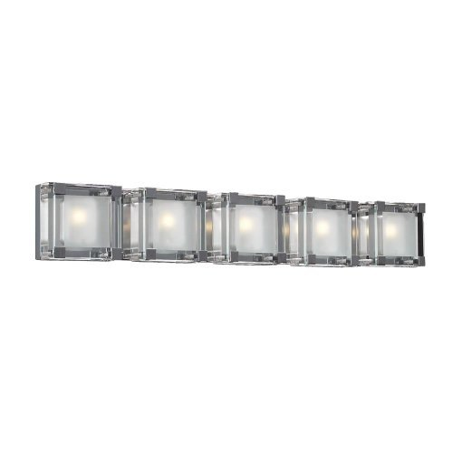 PLC Lighting 18145 PC Corteo Collection 5 Light Vanity, Polished ()