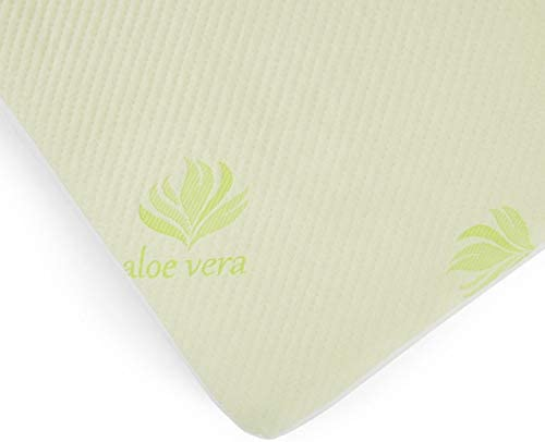 Lumaland Waterproof Aloe Vera Mattress Protector 140 x 200 cm Breathable Mattress Cover Anti Allergy Mattress Pad