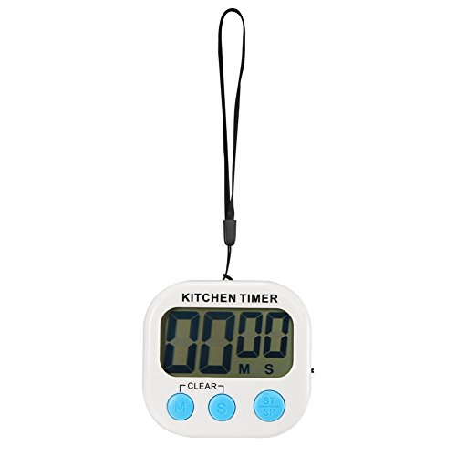 accmor Digital Kitchen Timer - Optimum Countdown Clock/Stopwatch with Large Display, Loud Clear Alarm-Good Helper for Your Kitchen and Life