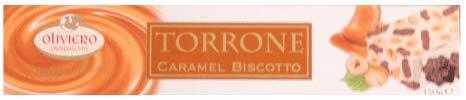 Oliviero Caramel Bisccotto Torrone Bar - 5.3 oz - Pack of 4