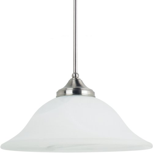 Sea Gull 65174BLE-962 Brockton 1-Light Pendant, Brushed (Light Energy Star Bowl Pendant)