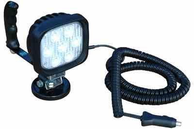 Hand Magnetic LED Light - 7, 3-Watt CREE LEDs - 100lb. Grip Magnetic Base - 675'L X 50'W Spot Beam(-Spot-White)
