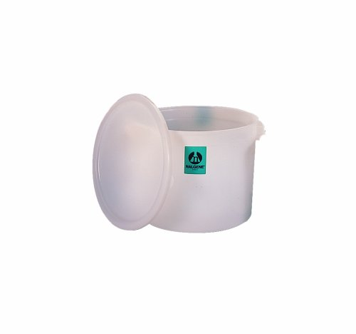 390 Telephone - Nalgene High-Density Polyethylene Large Round Jar with Cover, 30L Capacity, 390mm O.D. x 305mm H (Case of 6)