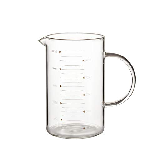 Glass measuring cup with handle 350ml 500 ml 1000ml (cup) (Size : 1000ml)