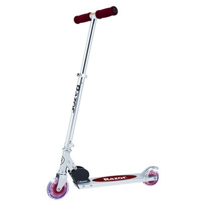 Razor A Lighted Wheel Kick Scooter -Red