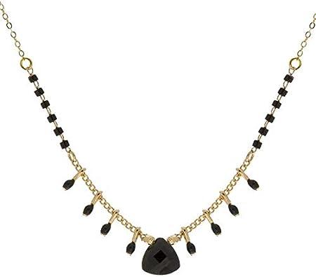 collier perle noir zag