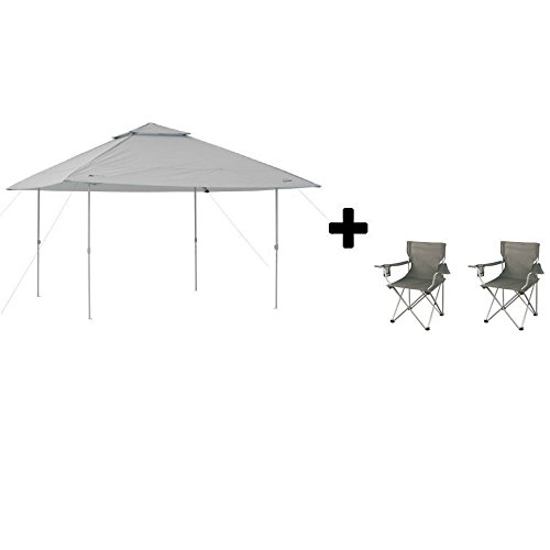 Ozark Trail* Instant Canopy (13′ x 13′, Warm Gray with Camping Armchairs)