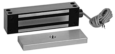 Rutherford Controls 8380 32D GateMag Brushed Stainless Steel Electromagnetic Lock, 12/24 VDC (Pack of 1)
