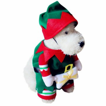 - Dog Dog Clothes & Shoes - Pet Dog And Cat Christmas Suit Santa Claus Dressing Up Party Apparel Clothing With Hat - M - 1 x Pet Grooming Bag Picture Details: