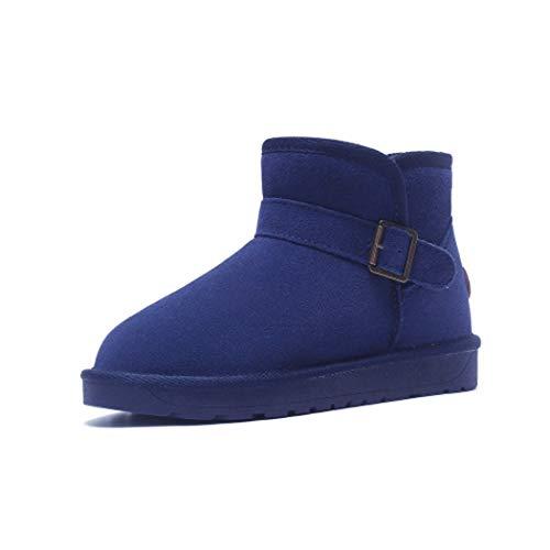 D'hiver Pour Neige Plates De Synthétique Chaudes Doublure En Bottes Bleu Daim Chaussures Femmes Marin Coton Courtes Sweaay Peluche Boots Antidérapantes gwI6ff