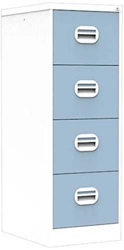 Simply Office FILEE4WPB 30 Kg 4 Drawer Steel Filing Cabinet   White/Pastel  Blue